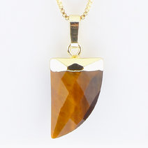Tiger Eye Healing Crystal Pendant by Crystal Beauty