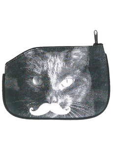 Cat Mustache Coin Purse by Artwork