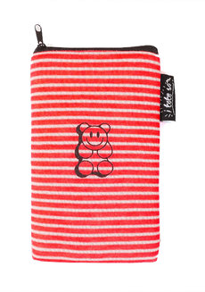 Smiley Bear Vertical Pouch by Artwork