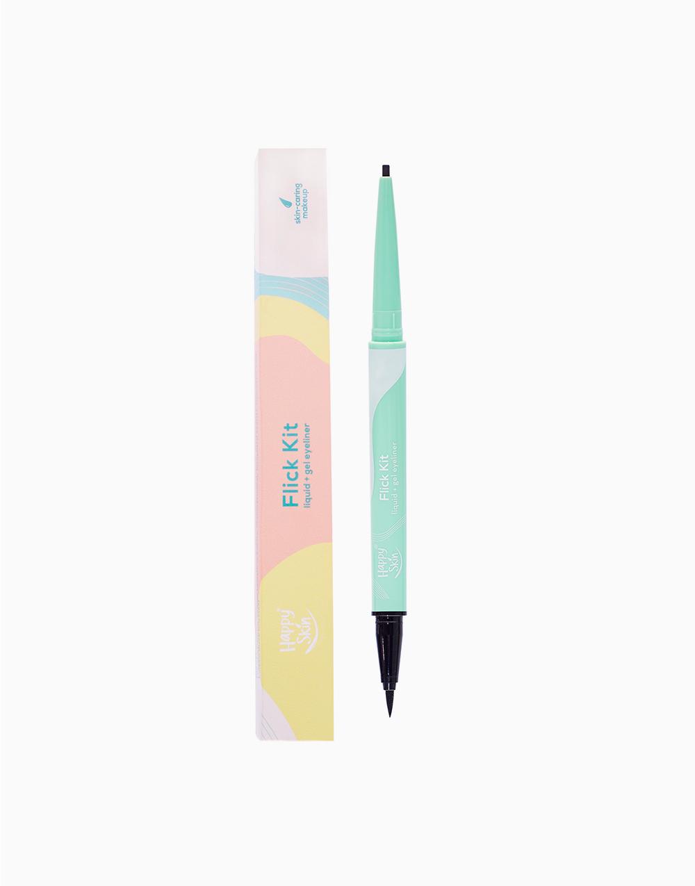 Flick Kit Liquid + Gel Eyeliner by Happy Skin | Perfect Black
