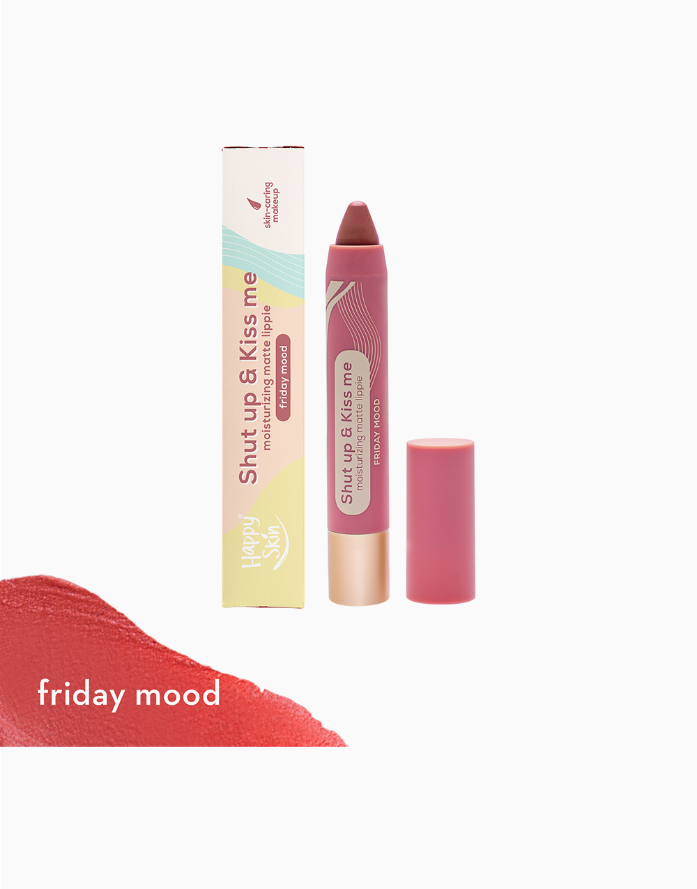 Shut Up & Kiss me Moisturizing Matte Lippie by Happy Skin   Friday Mood