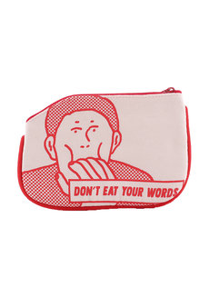 Don't Eat Your Words Coin Purse by Artwork