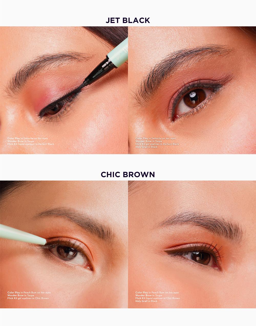 Flick Kit Liquid + Gel Eyeliner by Happy Skin | Chic Brown