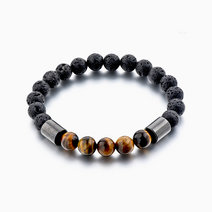 Courage Diffuser Bracelet (Tiger Eye & Hematite) by Stones for the Soul