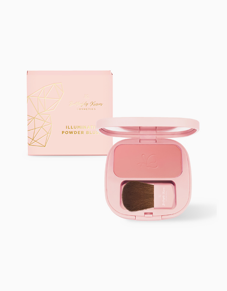 Shimmer Illuminating Powder Blush by Butterfly Kisses   Peachy Pink