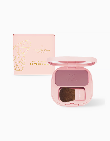 Shimmer Illuminating Powder Blush by Butterfly Kisses   Orchid Mauve