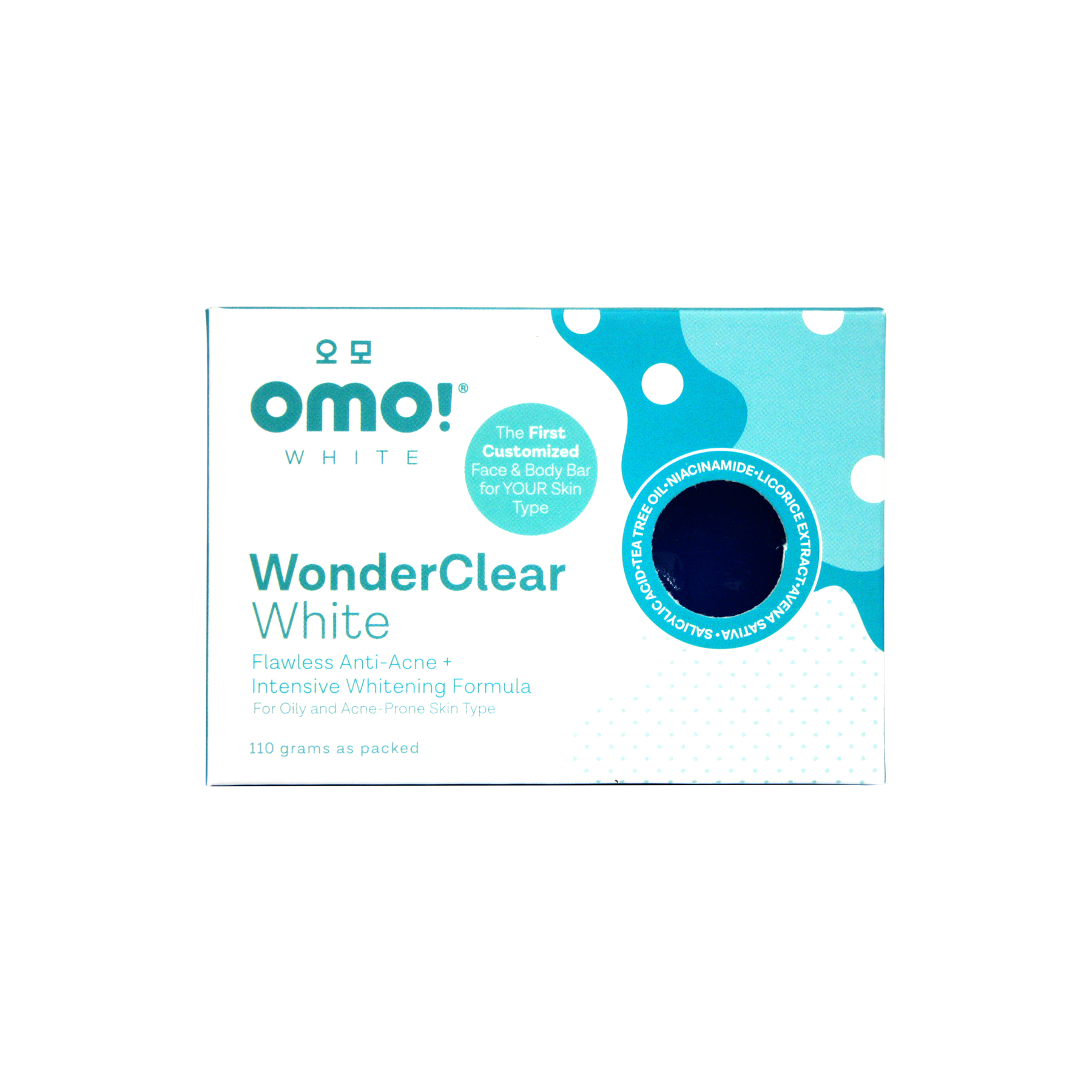 White WonderClear Flawless Anti-Acne + Intensive Whitening Formula Face & Body Soap (110g) by OMO! White