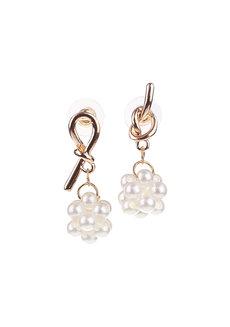 Periwinkle Pearl Knot Stud Earrings by Moxie PH