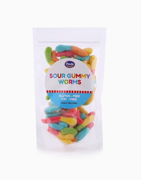 Sour Gummy Worms (200g) by Candy Corner