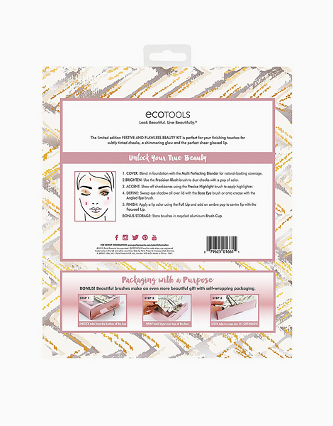Festive and Flawless Beauty Kit by Ecotools