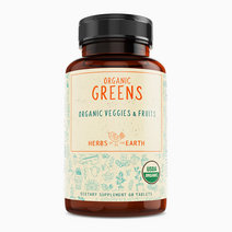 Organic Greens and Fruits Superfood & Multivitamins (60 Tablets) by Herbs of the Earth