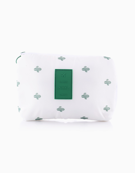 Travel Gadget Pouch by The Closet Space Savers Company | White Cactus