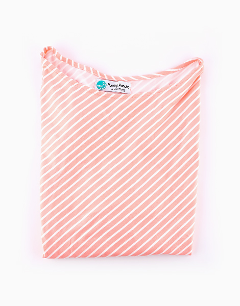 Nursing Poncho by Next9 | Pink and White Stripes
