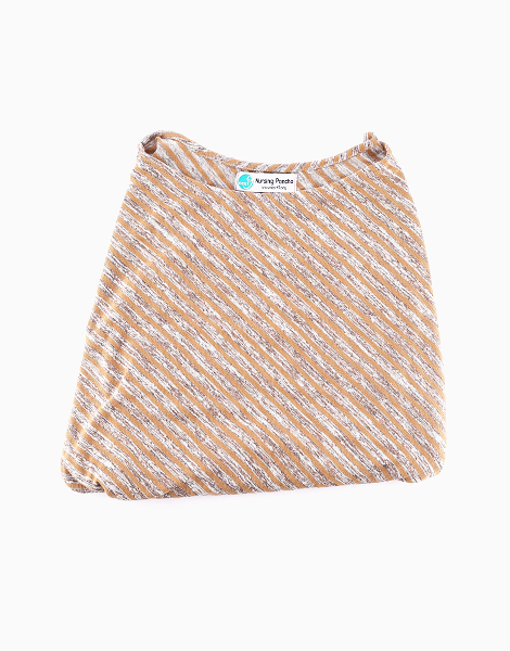 Nursing Poncho by Next9 | Brown Stripes