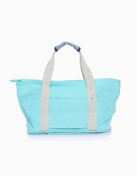 Travel Tote Bag with Shoe Compartment by The Closet Space Savers Company | Sky Blue