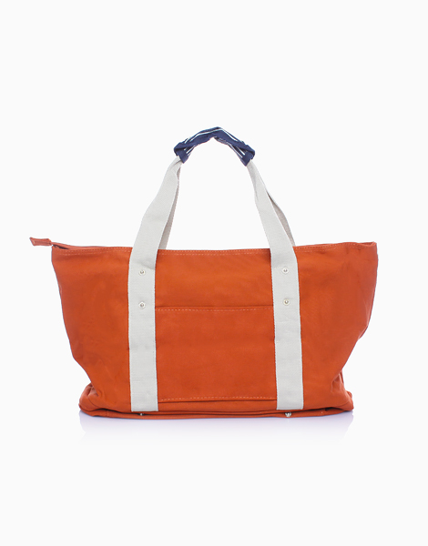 Travel Tote Bag with Shoe Compartment by The Closet Space Savers Company | Orange