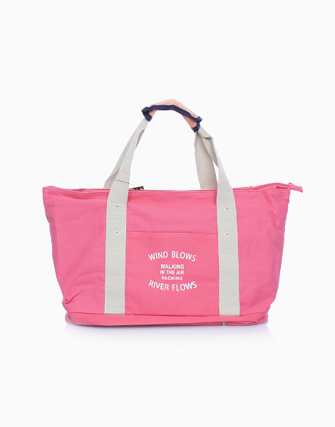 Travel Tote Bag with Shoe Compartment by The Closet Space Savers Company | Pink