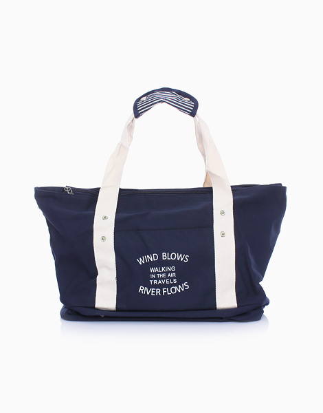 Travel Tote Bag with Shoe Compartment by The Closet Space Savers Company | Navy Blue