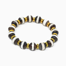 Striped Tibetan Agate Natural Gemstone Bracelet by Stones for the Soul
