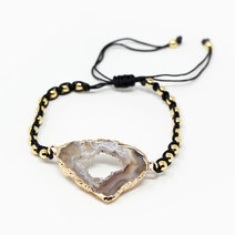 Gentle Keeper Botswana Agate Crystal Bracelet (Gold) by The Calm Chakra