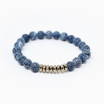 Weathered Agate And Pyrite Natural Gemstone Bracelet by Stones for the Soul