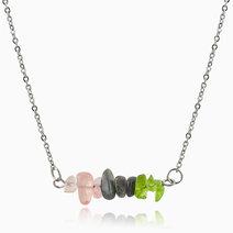 Motivate crystal energy necklace  %28rose quartz  labradorite  peridot%29