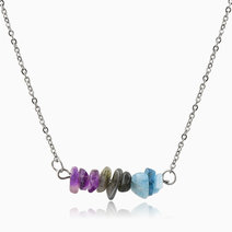 New beginnings crystal energy necklace  %28amethyst  labradorite  aquamarine%29
