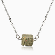 Pyrite Money and Wealth Crystal Necklace by Stones for the Soul