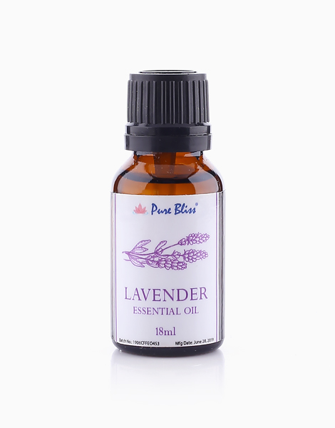 Ceramic Oil Burner With Lavender Essential Oil Bundle by Pure Bliss