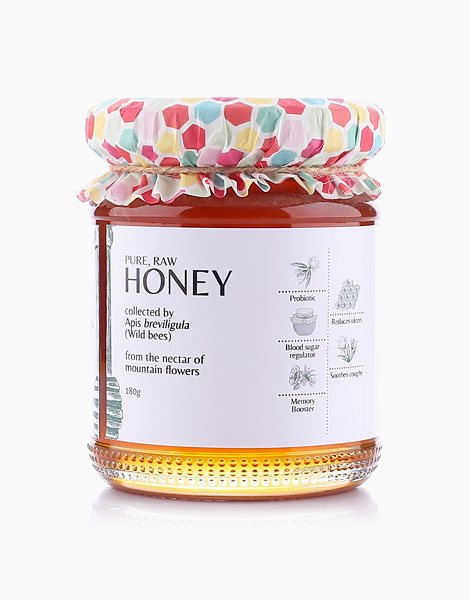 Pure, Raw, Multi Floral, Wild Honey (180g) by Milea