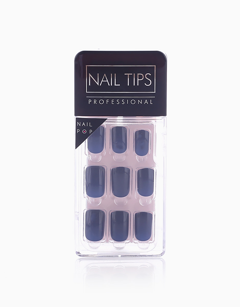 Press On Gel Nails (24 Tips) by Nail Pops   Midnight Blue