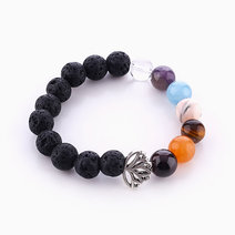 Lotus Chakra Diffuser Bracelet (10mm Stones) by Stars and Stones