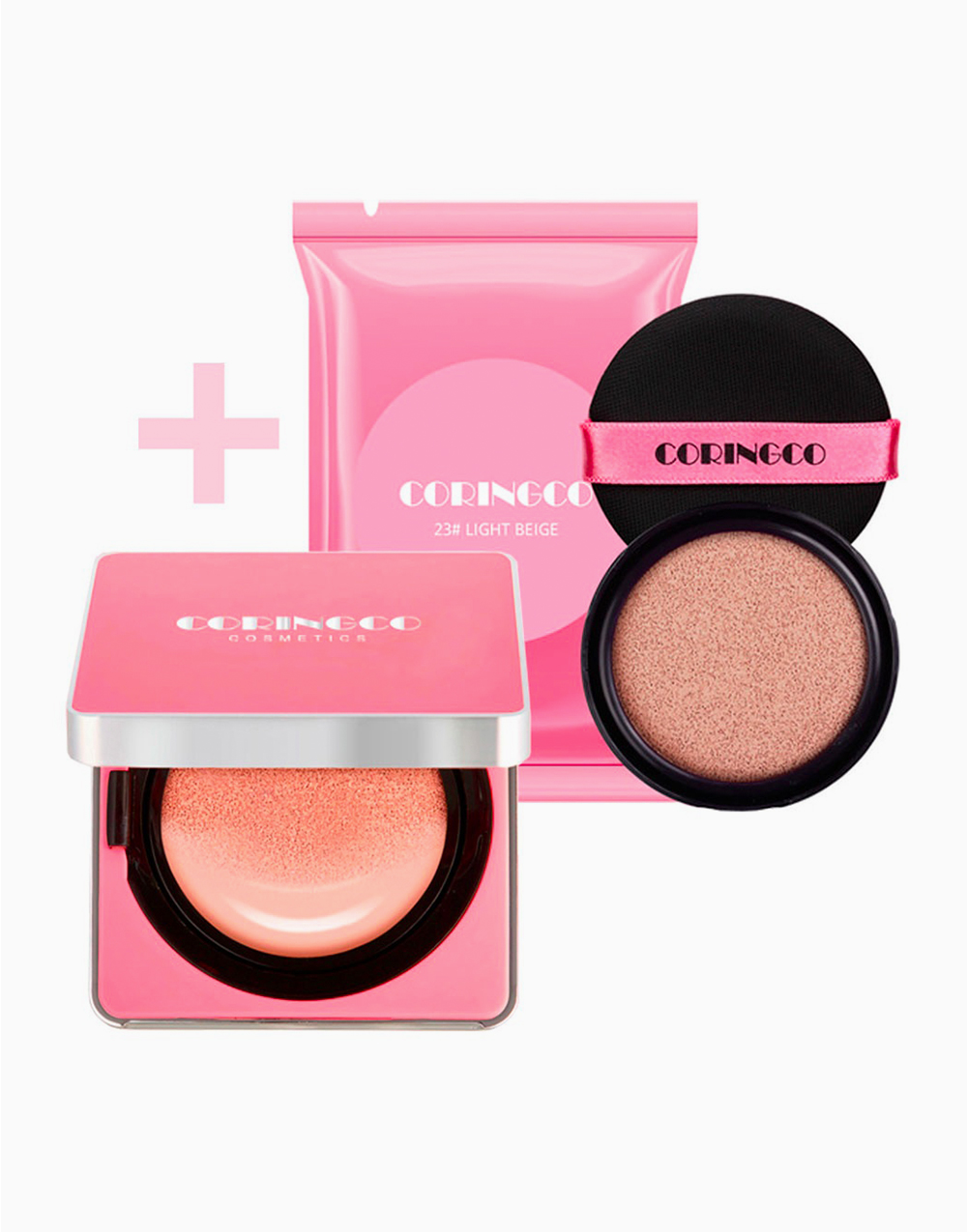 Cherry Blossom Water BB Cushion with Refill by Coringco | #23 Light Beige