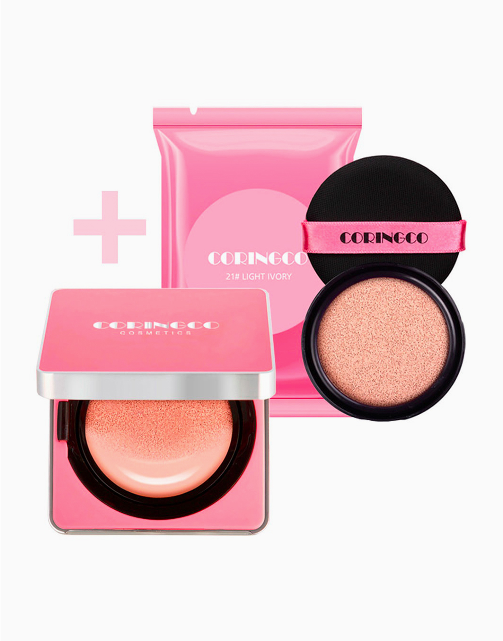 Cherry Blossom Water BB Cushion with Refill by Coringco | #21 Light Ivory