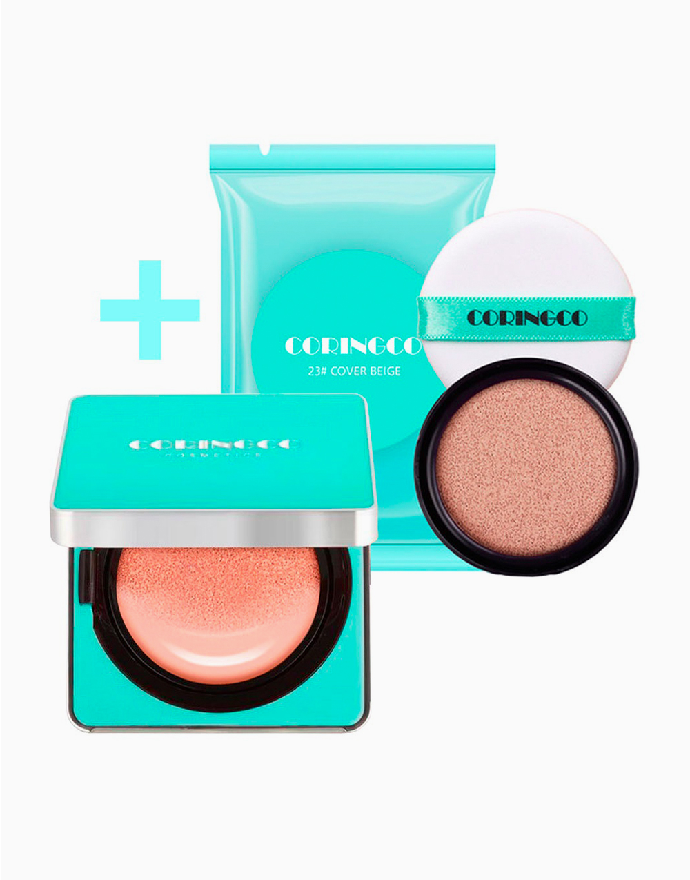 Mint Blossom Cover BB Cushion SPF50+ PA+++ With Refill by Coringco | #23 Cover Beige