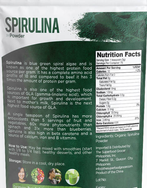 Organic Spirulina (100g) by The Superfood Grocer