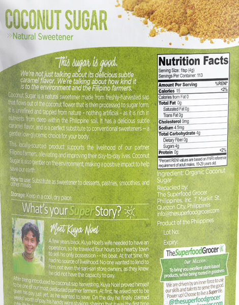 Organic Coconut Sugar (454g) by The Superfood Grocer