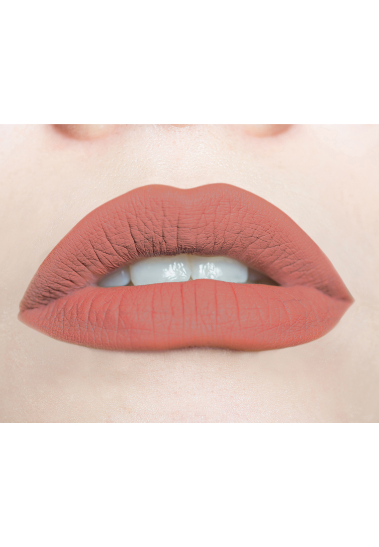 Soft & Creamy Matte Liquid Lipstick by Butterfly Kisses Cosmetics | Honey Beige