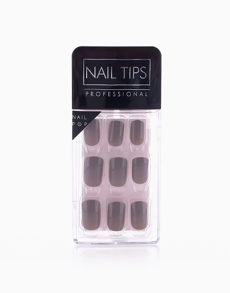 Press On Gel Nails (24 Tips) by Nail Pops   Grey