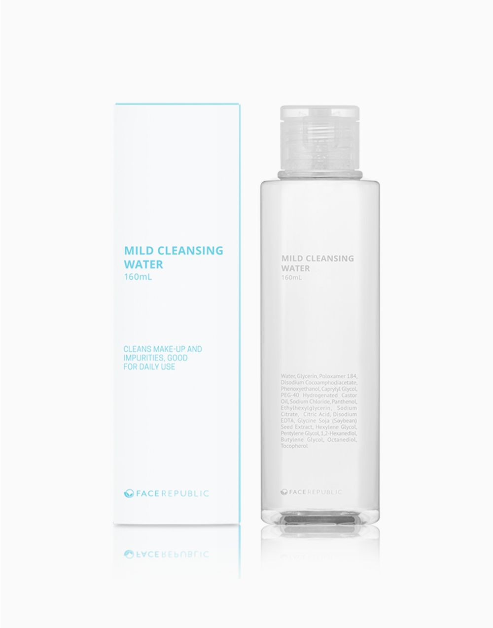 Mild Cleansing Water 160mL by Face Republic