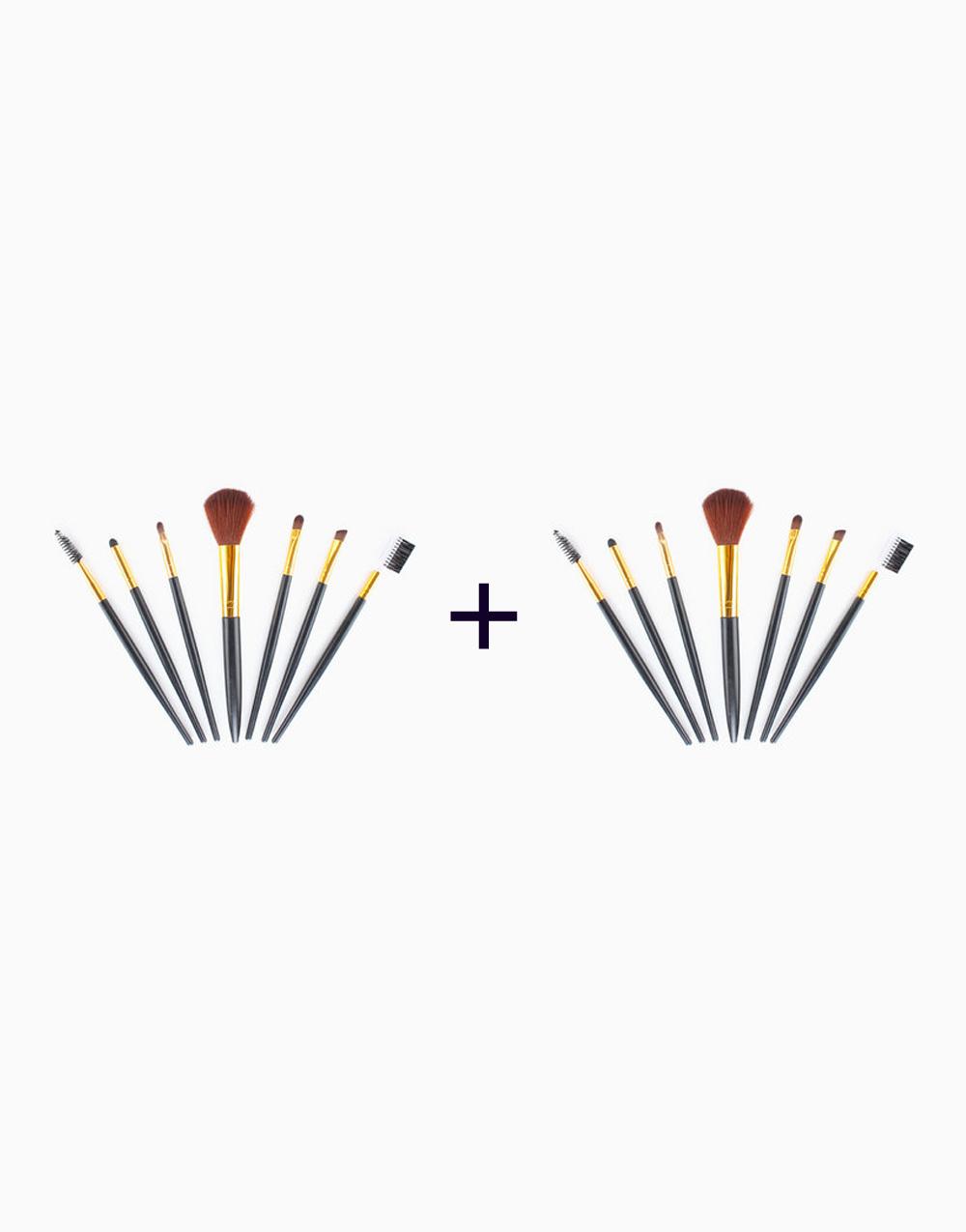 7-Piece Travel Brush Set (Buy 1, Take1) by PRO STUDIO Beauty Exclusives | Black
