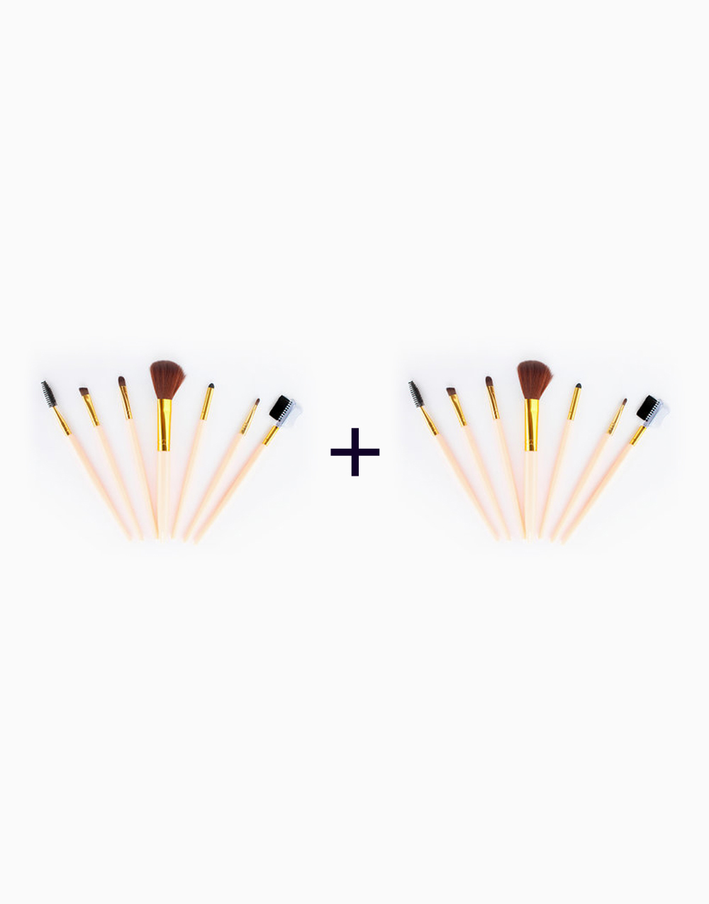 7-Piece Travel Brush Set (Buy 1, Take1) by PRO STUDIO Beauty Exclusives | Peach