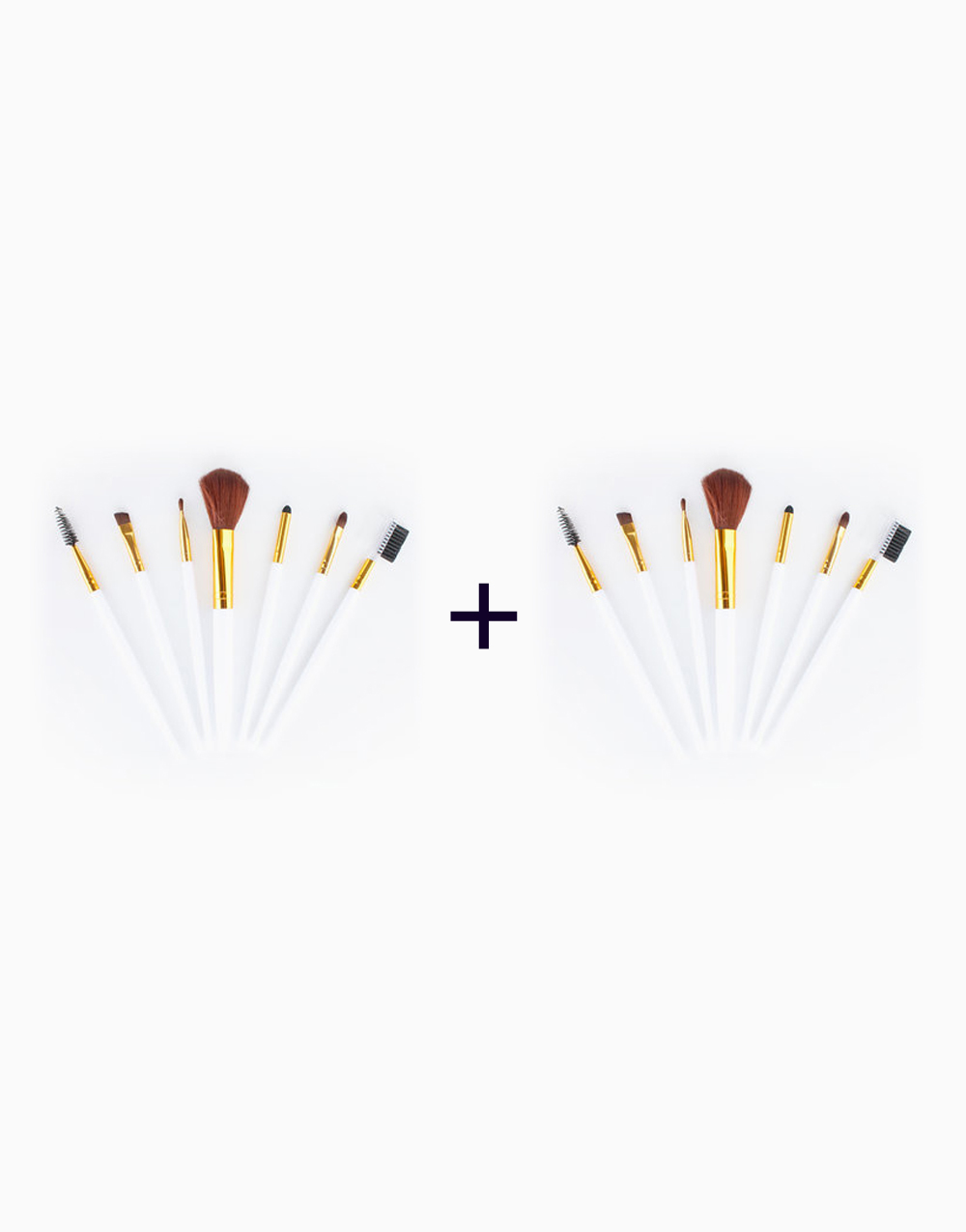 7-Piece Travel Brush Set (Buy 1, Take1) by PRO STUDIO Beauty Exclusives | White