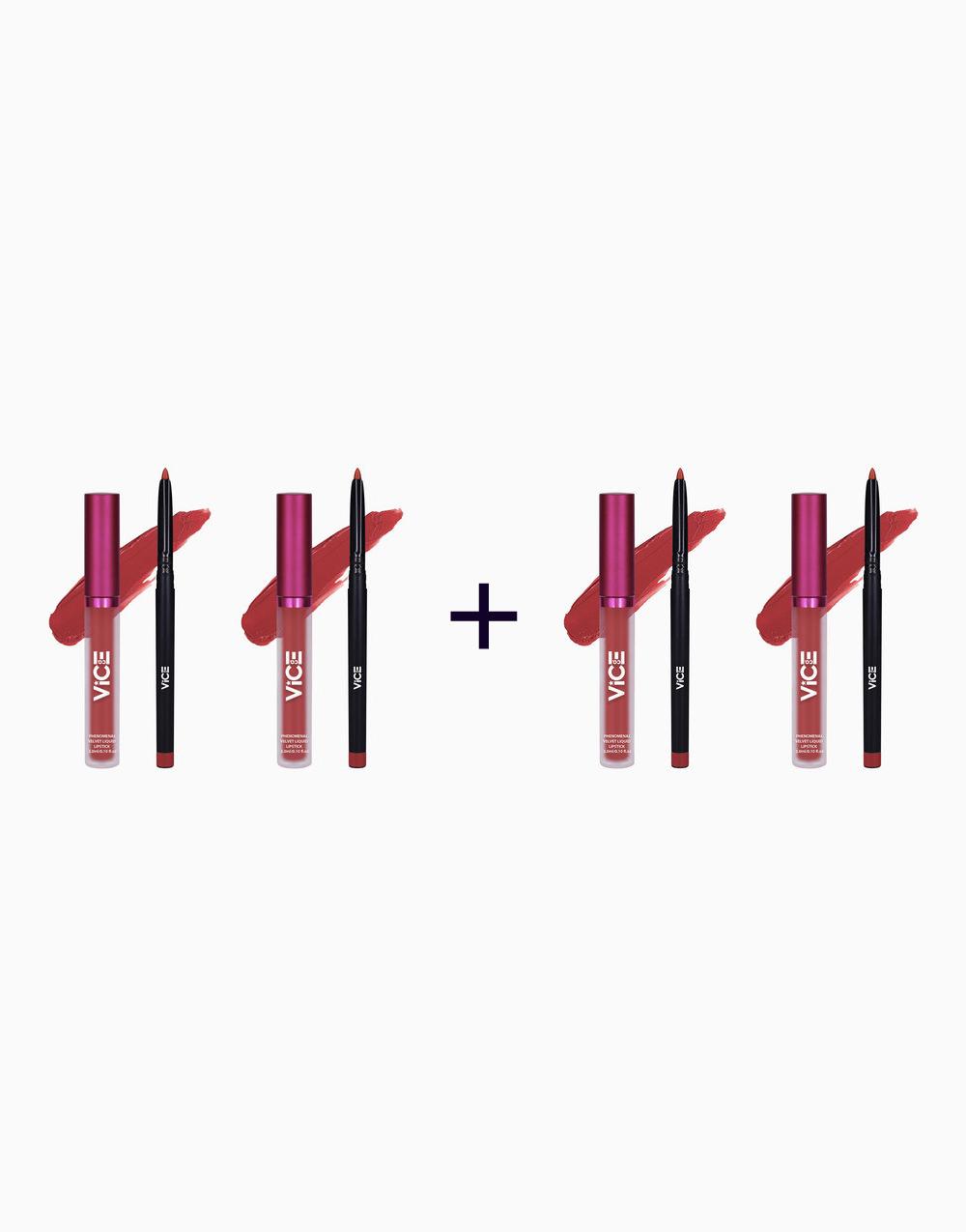 Phenomenal Velvet Lip Kit (3ml + 0.25g) (Buy 2, Take 2) by Vice Cosmetics   Vulevu