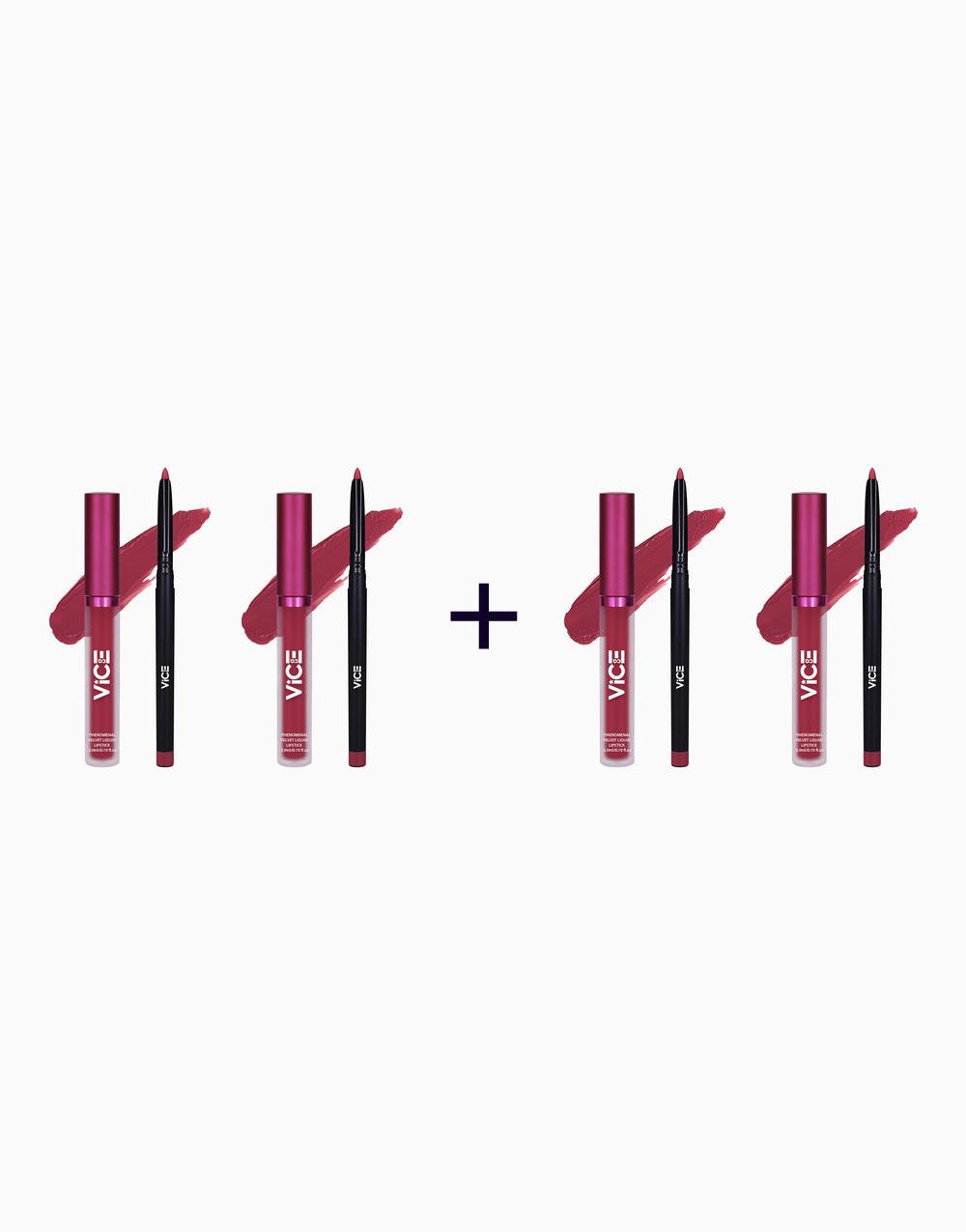 Phenomenal Velvet Lip Kit (3ml + 0.25g) (Buy 2, Take 2) by Vice Cosmetics   Kumelavu
