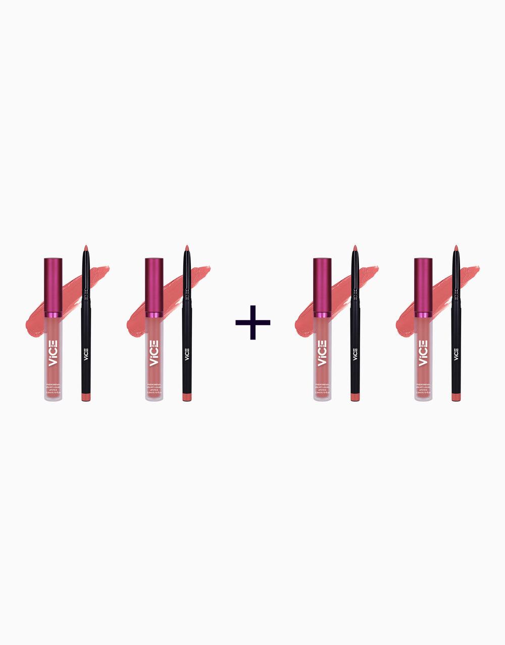 Phenomenal Velvet Lip Kit (3ml + 0.25g) (Buy 2, Take 2) by Vice Cosmetics   Izkeravu