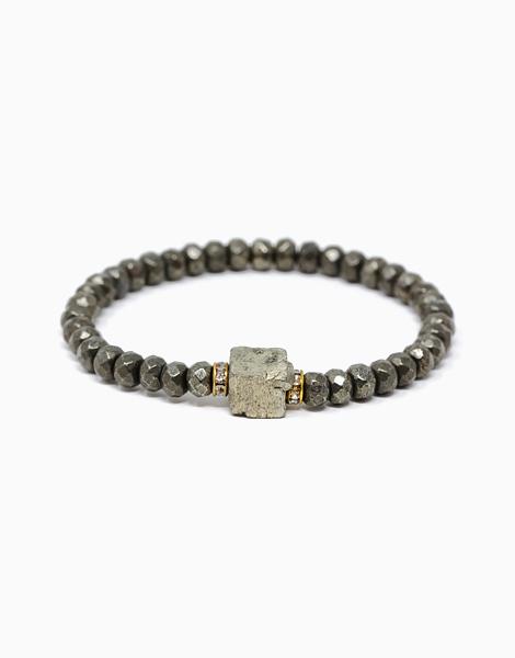 Infinite Abundance Pyrite Crystal Bracelet by The Calm Chakra | Small (16cm)