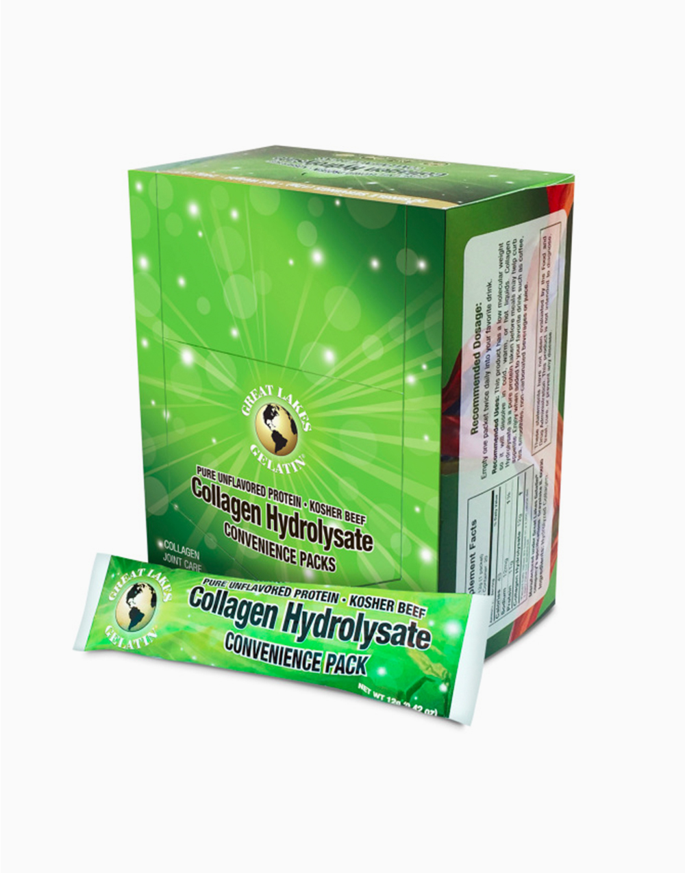 Collagen Hydrolysate Packet (12g) by Great Lakes