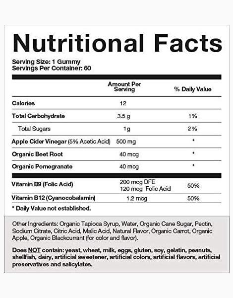 Apple Cider Vinegar Gummies (2 Month Supply) by Goli