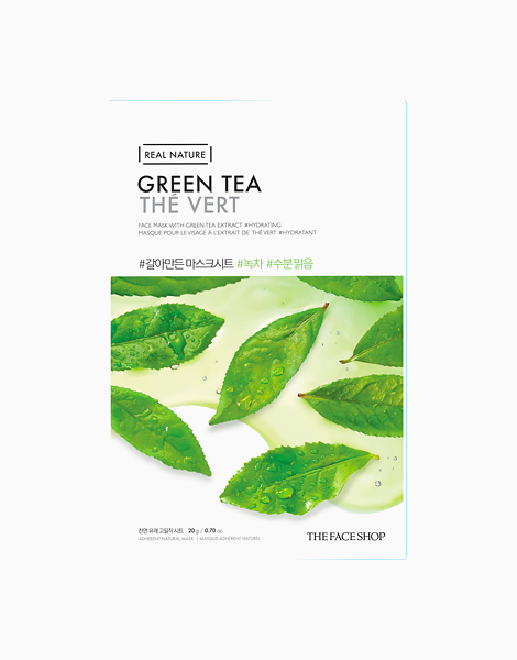 Real Nature Green Tea Mask Sheet by The Face Shop